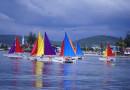 Những mà trình diễn đua thuyền buồm ngoạn mục tại giải đấu