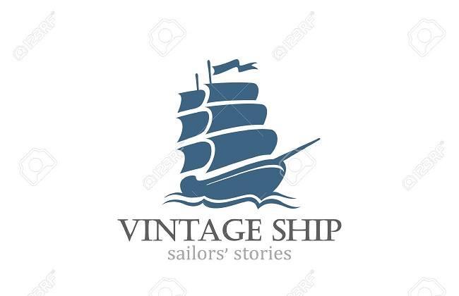 Logo hình thuyền buồm may mắn, thành công